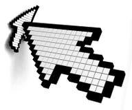 Tecleo del cursor Fotografía de archivo libre de regalías