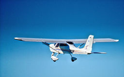 Tecnam P92 Classic in flight Stock Photography