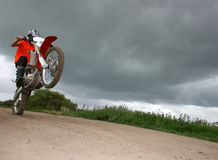 Tecnica del motociclista Fotografia Stock Libera da Diritti