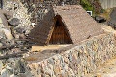 Tecnica del ` s della sorgente di acqua calda di Beppu Myoban-onsen per la produzione dei sali da bagno naturali di yunohana, jap fotografie stock libere da diritti