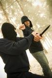 tecnica difensiva Fotografia Stock Libera da Diritti