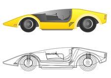 Tecnical car. Creative design of technical car Stock Image