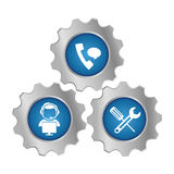 Tecnical repair service emblem icon Royalty Free Stock Image