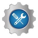 Tecnical repair service emblem icon Royalty Free Stock Photo
