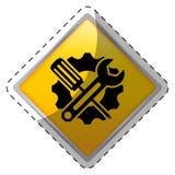 Tecnical repair service emblem icon Royalty Free Stock Photos