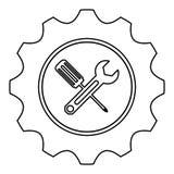 Tecnical repair service emblem icon Stock Images
