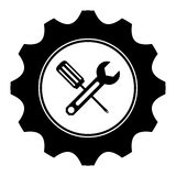 Tecnical repair service emblem icon Stock Photos