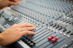 Tecnico del suono Fotografia Stock Libera da Diritti