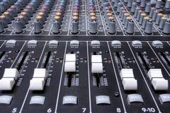 Tecnico del suono del dettaglio Immagine Stock Libera da Diritti