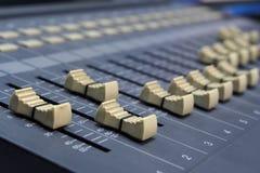 Tecnico del suono del dettaglio Immagini Stock