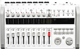 Tecnico del suono digitale portatile a grandezza naturale immagini stock libere da diritti