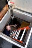Tecnico di HVAC Fotografia Stock