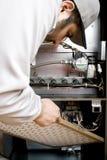Tecnico di HVAC Fotografia Stock Libera da Diritti