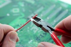 Tecnico elettronico Fotografia Stock