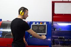 Tecnico meccanico Immagine Stock
