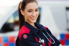 Tecnico medico di emergenza Fotografia Stock