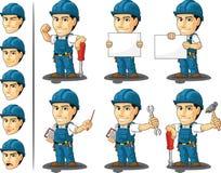 Tecnico o riparatore Mascot illustrazione vettoriale