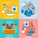 Tecnico sanitario Design Concept Fotografia Stock Libera da Diritti