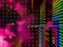 Tecnnological Space With Cubes 5 Royalty Free Stock Photography