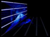 Tecnológico azul brilhante ilustração stock