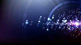 Tecnológicos abstractos del vector iluminan el fondo de la plantilla del espacio Foto de archivo libre de regalías