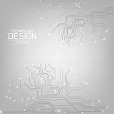 Tecnología abstracta con una textura de la placa de circuito Foto de archivo libre de regalías