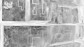 tecnología abstracta de la ciencia ficción 4k, fondo cristalino de cristal transparente de la matriz almacen de metraje de vídeo