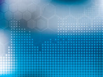 Tecnología abstracta del azul del fondo stock de ilustración