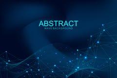 Tecnología abstracta futurista del blockchain del fondo del vector Web profundo Par a mirar concepto del negocio de la red global libre illustration