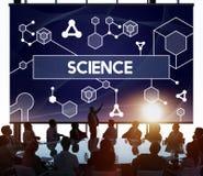 Tecnología Atom Dna Concept de la célula madre de la ciencia Foto de archivo libre de regalías