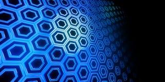 Tecnología azul del fondo del panal Imagen de archivo