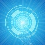 Tecnología azul del fondo por geometría libre illustration