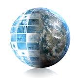 Tecnología azul del mundo Imagenes de archivo