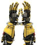 Tecnología cibernética del robot del AI del crimen esposada Foto de archivo libre de regalías
