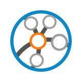Tecnología circular Logo Vector Graphic Design del globo del vínculo Imagen de archivo