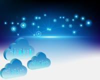 tecnología de almacenamiento computacional de los datos de la transacción comercial de la nube 3d libre illustration