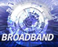 Tecnología de banda ancha de los datos del Internet Fotografía de archivo