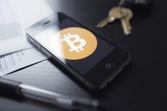 Tecnología de Bitcoin imagen de archivo