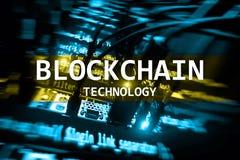 Tecnología de Blockchain, explotación minera del cryptocurrency imagen de archivo libre de regalías