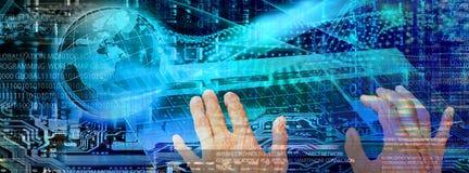 Tecnología de comunicación cibernética de Internet Fotografía de archivo libre de regalías