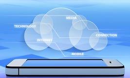 Tecnología de comunicación de la abstracción Imagenes de archivo