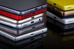 Tecnología de comunicación inalámbrica del teléfono móvil imagenes de archivo
