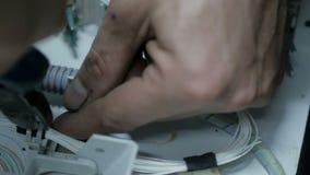 Tecnología de comunicación de la fibra óptica almacen de video