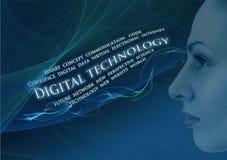 Tecnología de Digitaces Imágenes de archivo libres de regalías