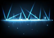 Tecnología de Digitaces con el fondo abstracto del efecto brillante ligero libre illustration