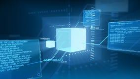 Tecnología de interfaz de red del código de datos de Digitaces stock de ilustración