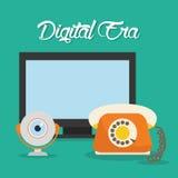 Tecnología de la era de Digitaces Fotografía de archivo