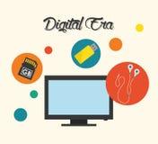 Tecnología de la era de Digitaces Imagen de archivo