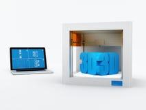 tecnología de la impresión 3d Imágenes de archivo libres de regalías