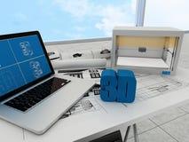 tecnología de la impresión 3d Foto de archivo